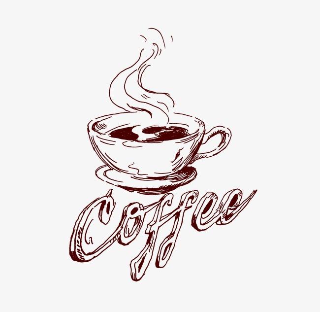 650x633 Coffee Line Drawings, Coffee, Mug, Coffee Background Png Image