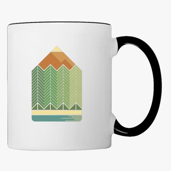 600x600 Drawing Mountains Coffee Mug