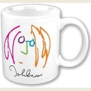300x300 John Lennon Imagine Drawing Self Portrait White Coffee Mug Boxed