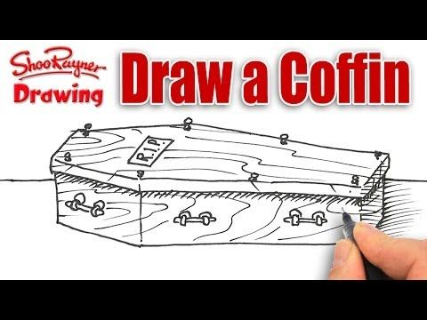 480x360 How To Draw A Coffin Spoken Tutorial For Halloween Inspodesign