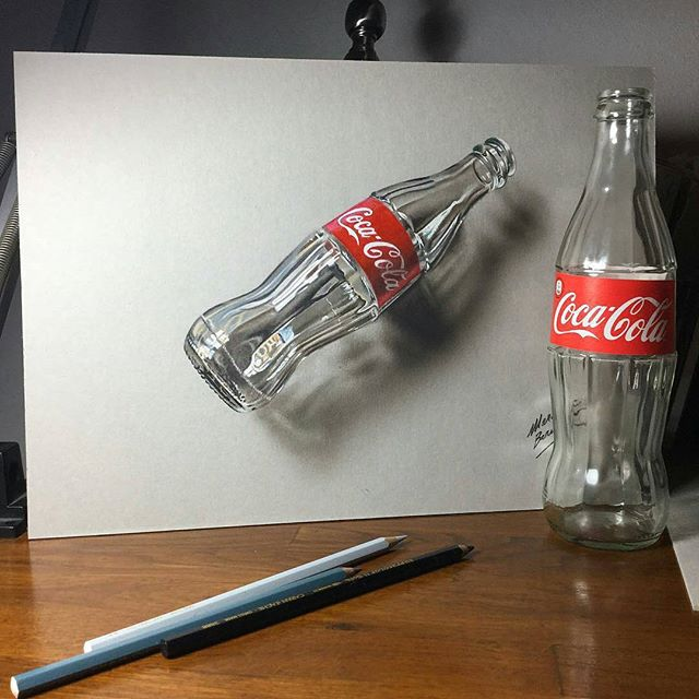640x640 Awesome 3d Coke Glass Drawing