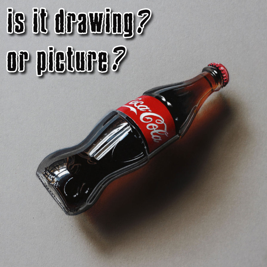 894x894 Coke Bottle Drawing By Marcello Barenghi By Marcellobarenghi