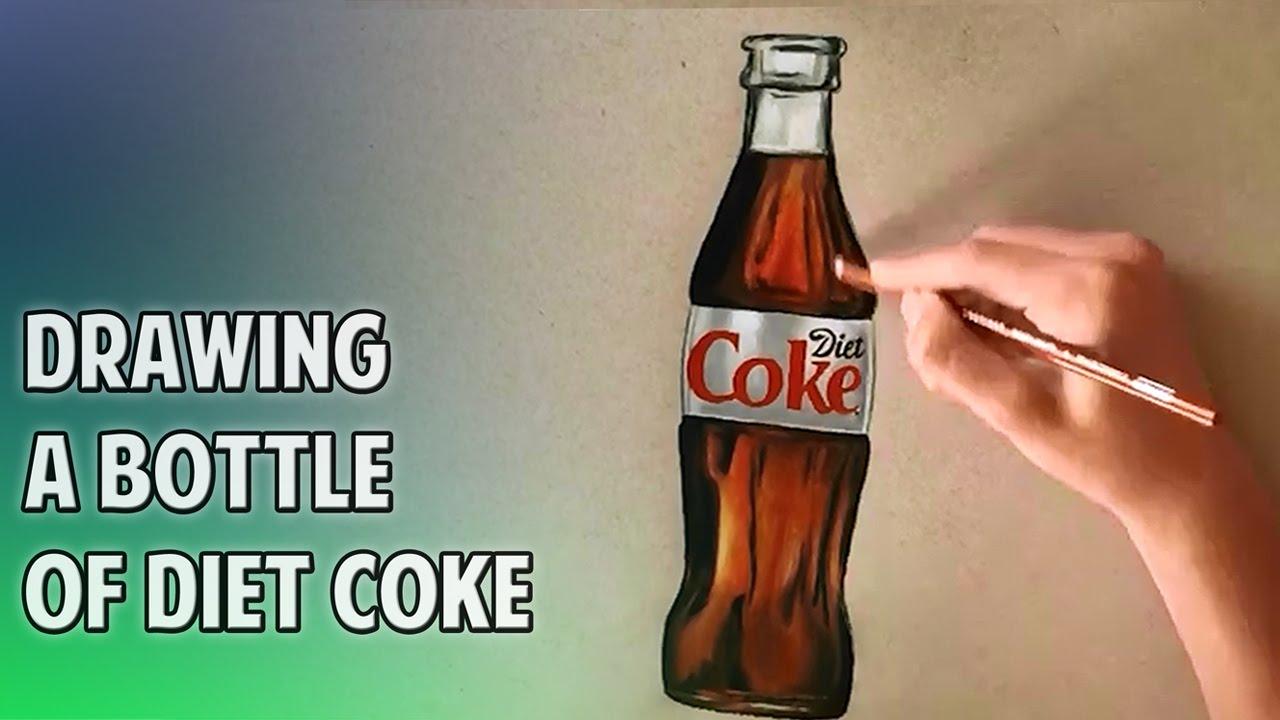 1280x720 Drawing A Bottle Of Diet Coke
