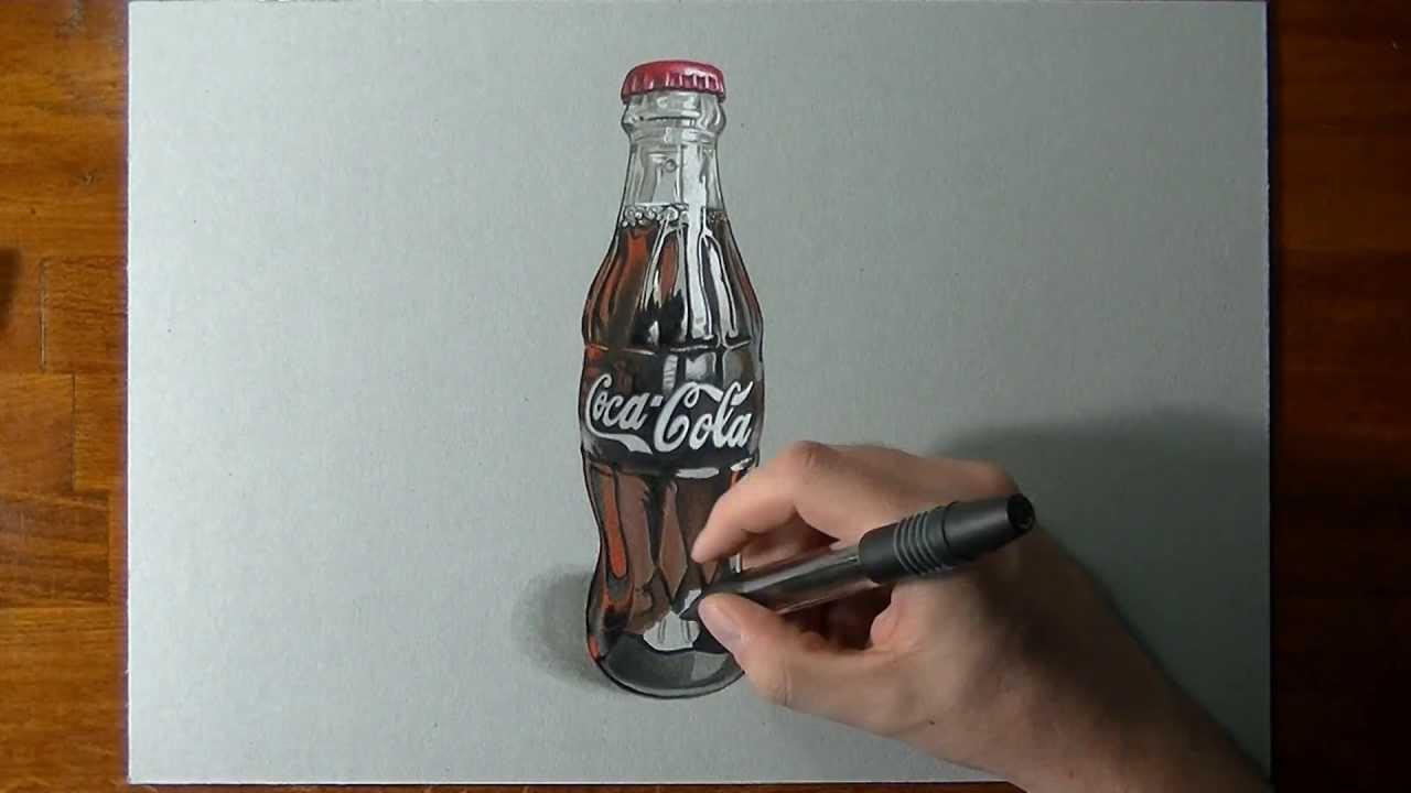 1280x720 Drawing A Coca Cola Contour Bottle