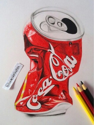 317x424 Crushed Coke Can Xx Draw Coke, Crushes And Drawings
