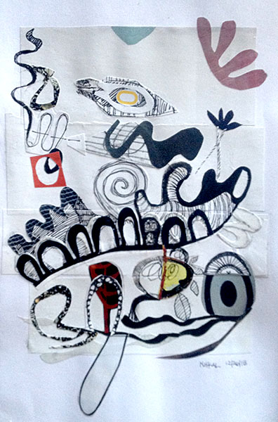 396x600 Drawing And Collage Art Of Collage