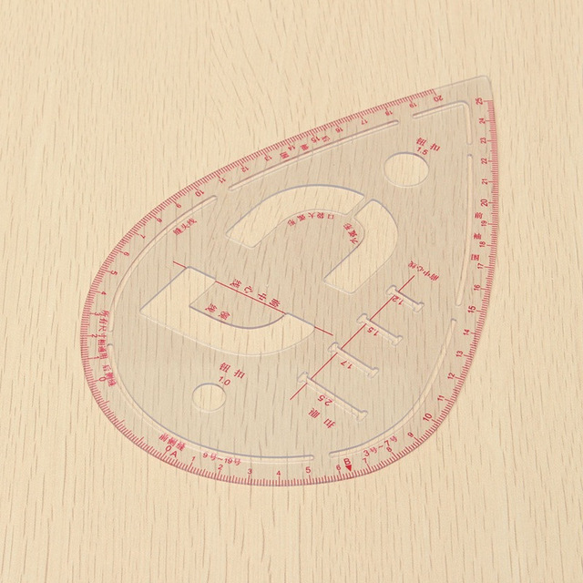 640x640 Plastic Sleeve Button Cutting Ruler Clothing Sample Pockets Collar