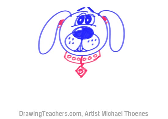 550x392 To Draw A Cartoon Dog Sitting Down