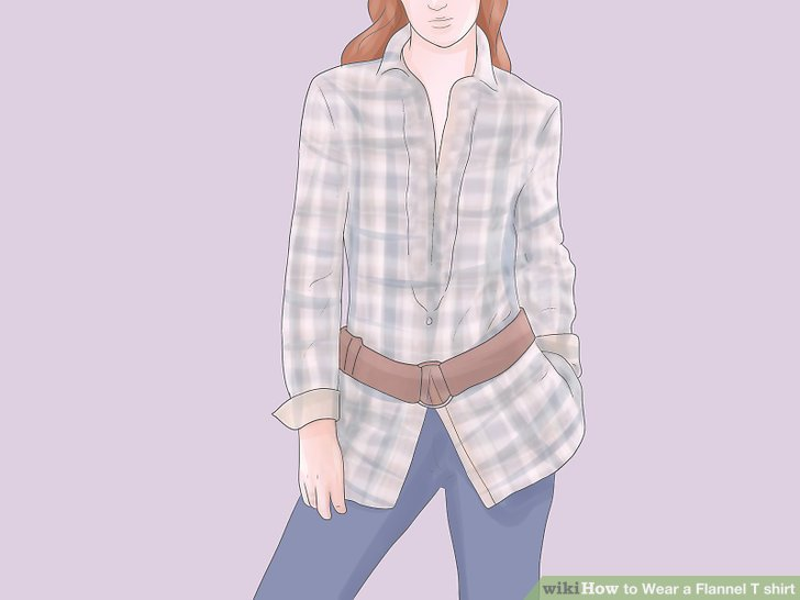 728x546 How To Wear A Flannel T Shirt 15 Steps (With Pictures)