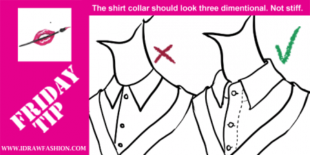 450x225 How To Draw A Shirt Collar I Draw Fashion