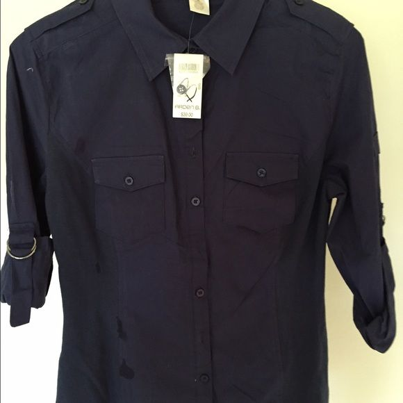 580x580 Black Button Down Collared Shirt Nwt Shirt Drawing, Black Button