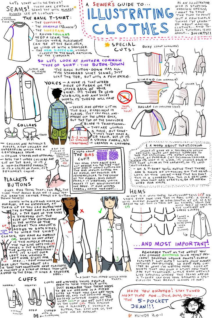 730x1095 Illustrating Clothes Shirts By Klindicative