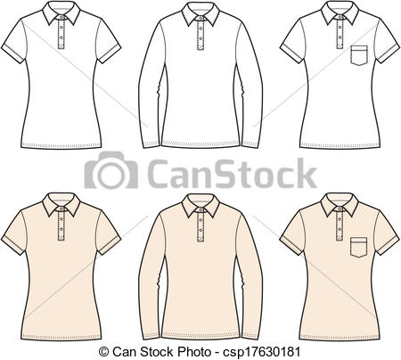 450x404 T Shirt With Collar Drawing