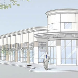 300x300 Architectural Drawing For Proposed Cnl Bank Building On Edgewater
