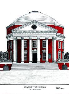 222x300 College Building Drawings Fine Art America
