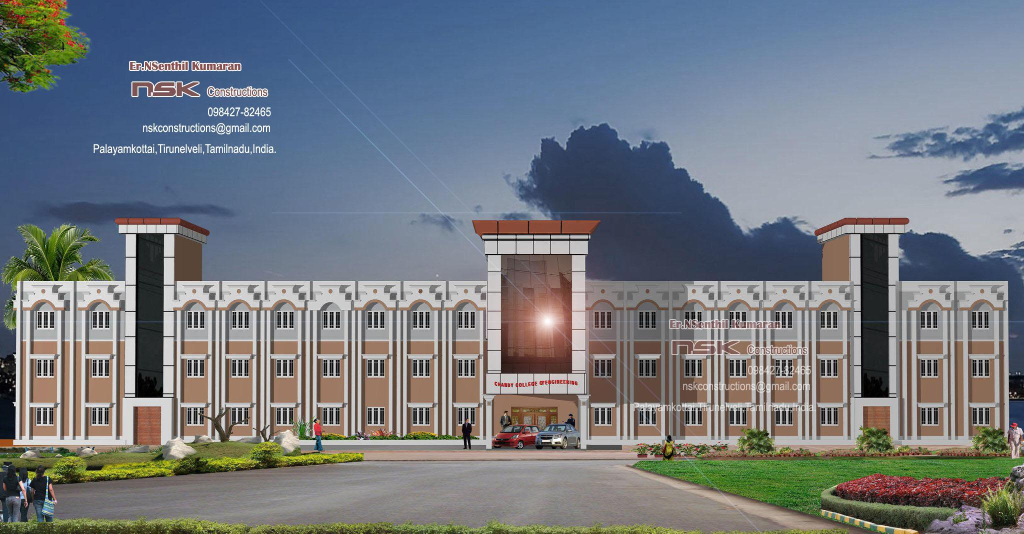 2048x1069 Elevation Of College Building