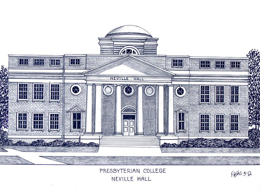 900x663 Presbyterian College Drawing By Frederic Kohli