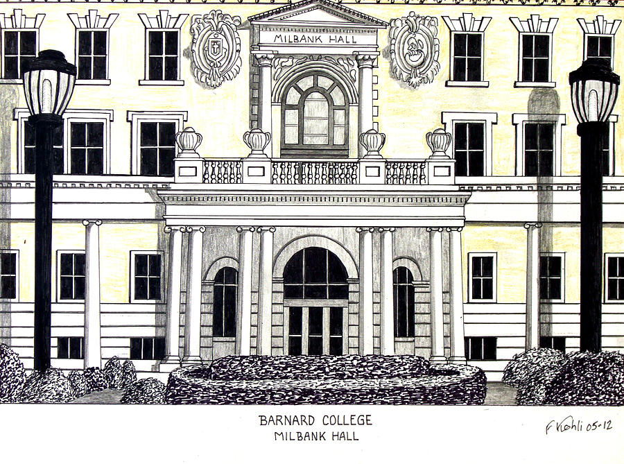 900x669 Barnard College Drawing By Frederic Kohli