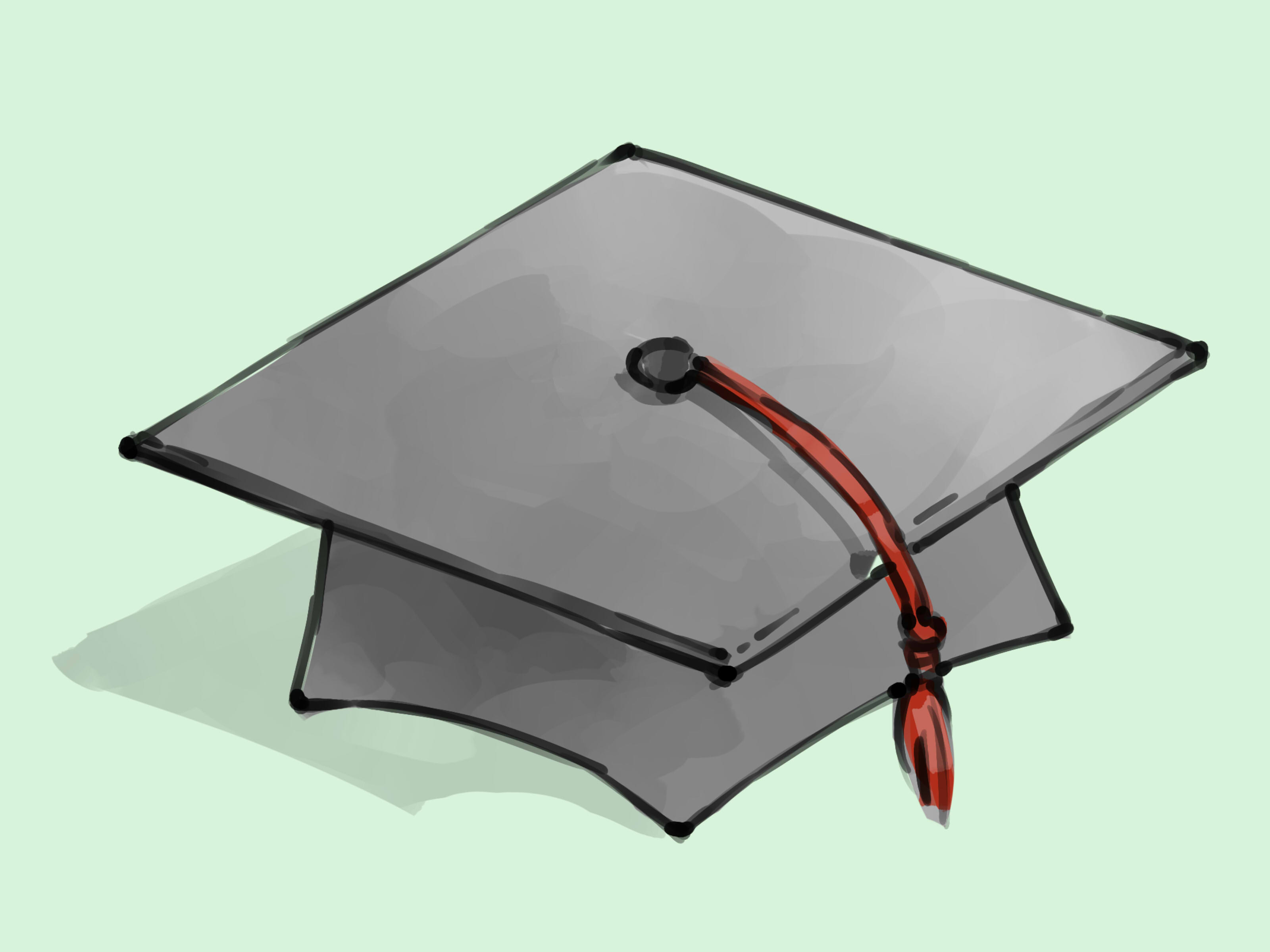 3200x2400 How To Draw A Graduation Cap 5 Steps (With Pictures)