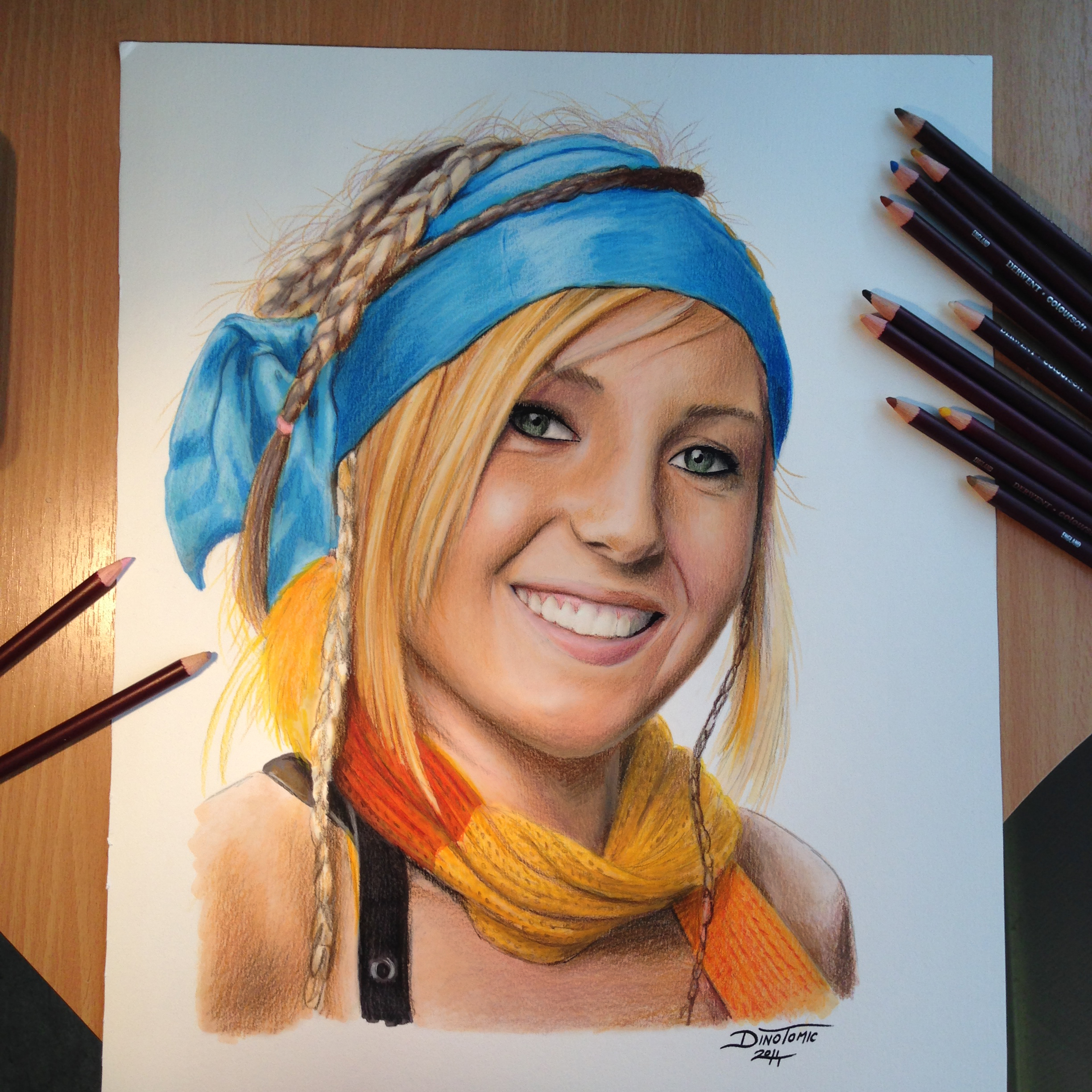2448x2448 Color Pencil Drawing Of Jessica Nigri By Atomiccircus.