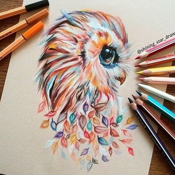 600x600 40 Creative And Simple Color Pencil Drawings Ideas Color Pencil