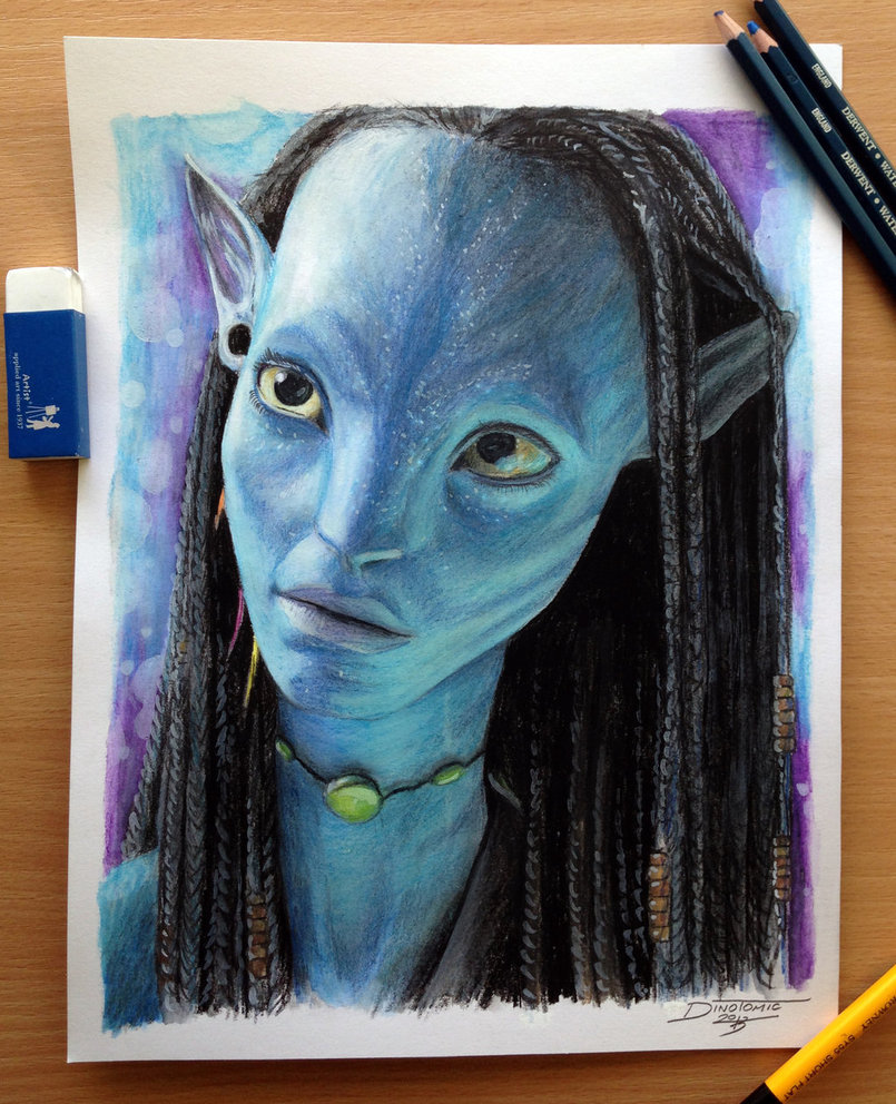 805x992 Neytiri Color Pencil Drawing By Atomiccircus