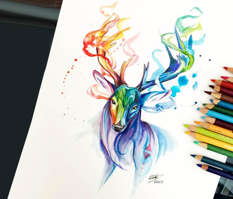 750x640 Phantom Color Drawing By Katy Lipscomb Art No. 1457