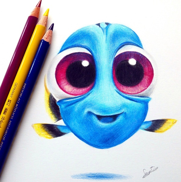 600x603 40 creative and simple color pencil drawings ideas