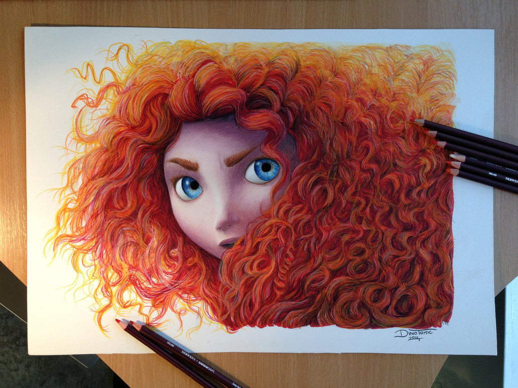1032x774 Merida Color Pencil Drawing ( For Sale ) By Atomiccircus