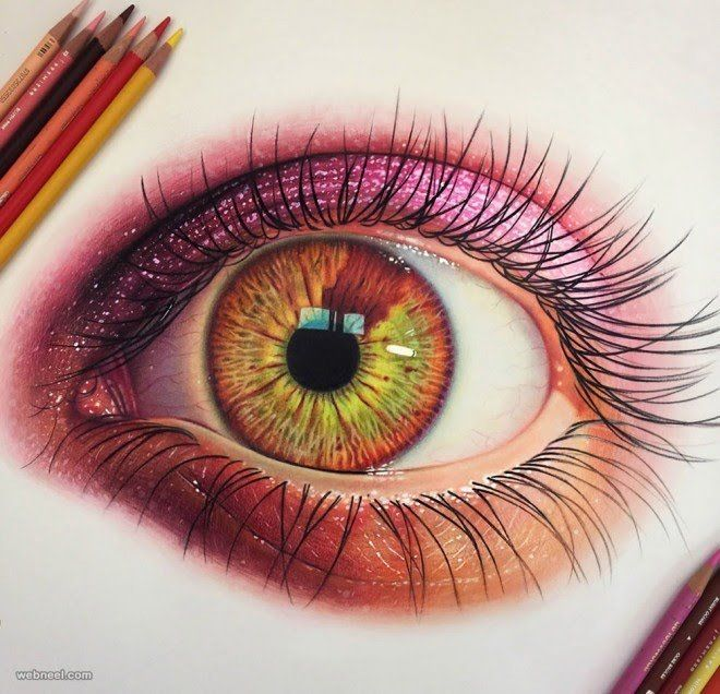 660x636 Eye Color Pencil Drawing Color Pencil Eyes
