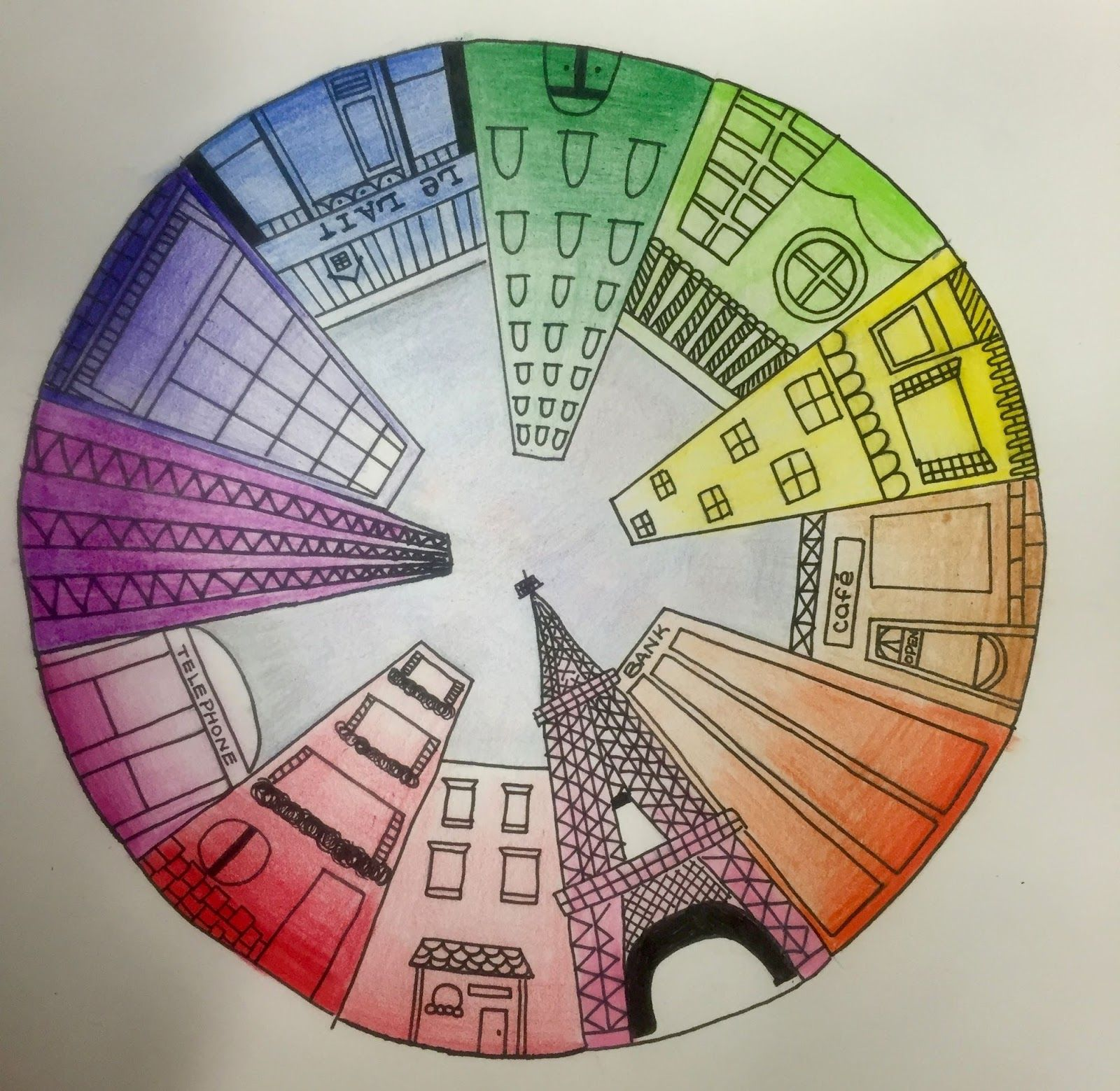 1600x1559 Objective Students Will Create A Color Wheel Using One Point