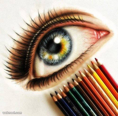 500x491 eyes color pencil drawing 5
