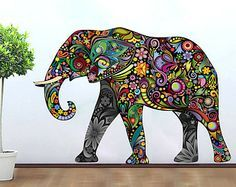236x187 Decorated Indian Elephant Drawing