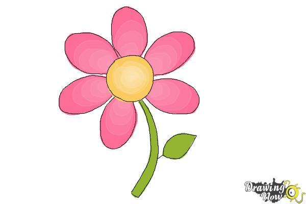 600x400 Gallery Simple Flowers Drawings Color,