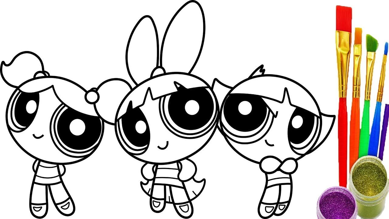 1280x720 How To Draw Powerpuff Girls Coloring Book Youtube Videos