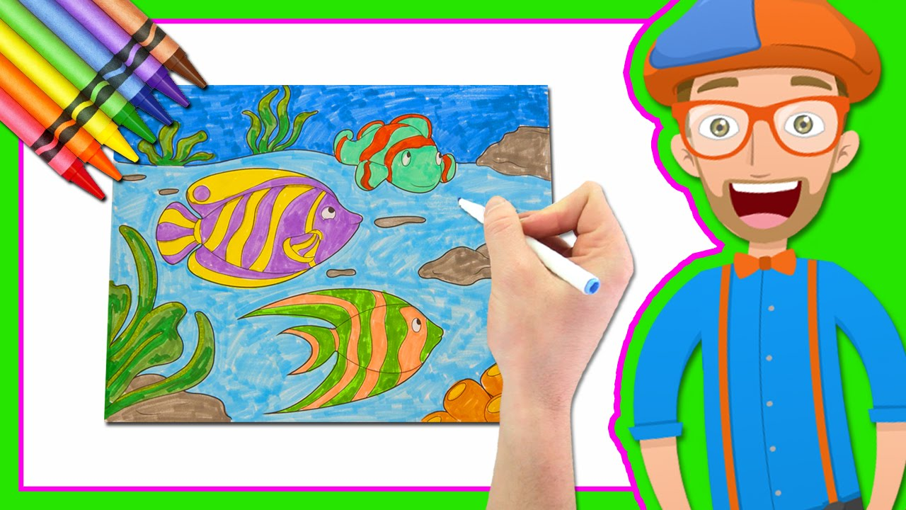 1280x720 Learn Colors By Drawing With Blippi Coloring Book