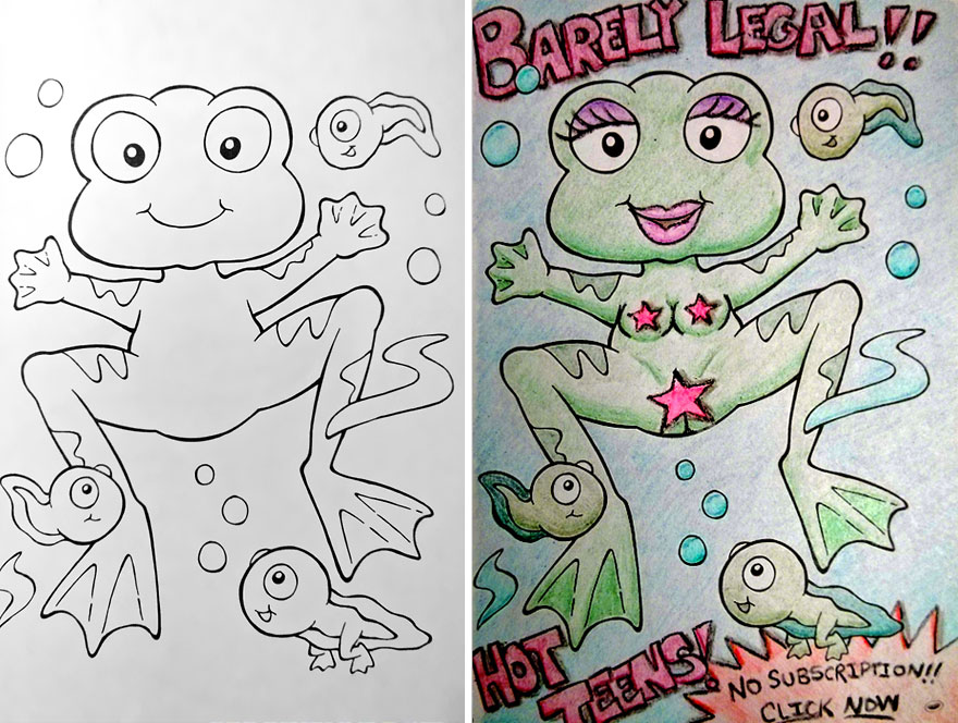 880x664 See What Happens When Adults Do Coloring Books Part 2 Bored Panda