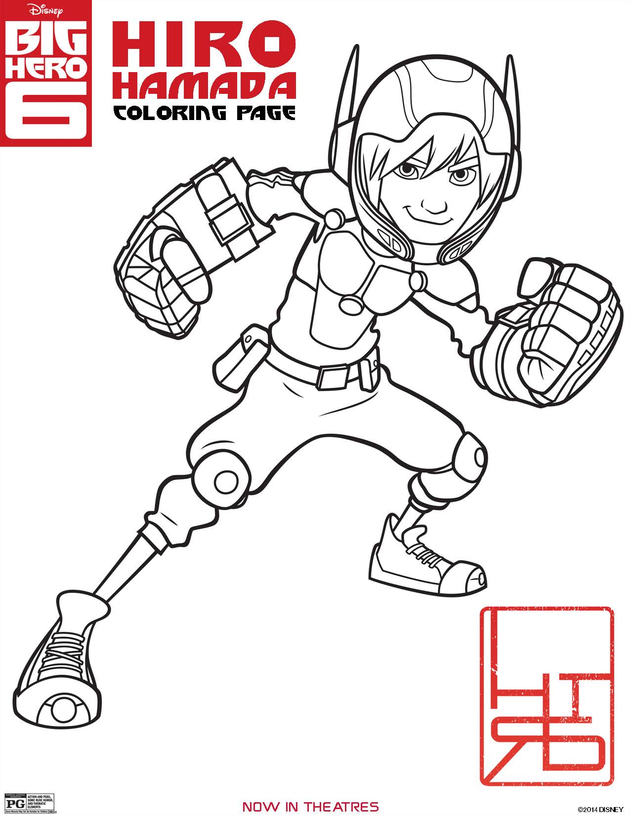 1275x1650 Big Hero 6 Coloring Pages And Printables