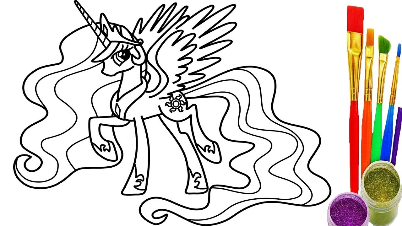 1280x720 Real Pony Coloring Pages Copy How To Draw Rainbows My Little Pony