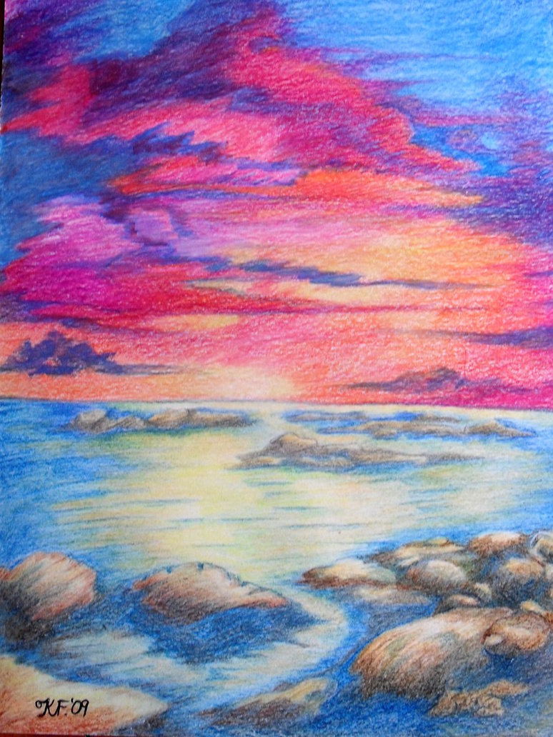 774x1032 Sunset Colour Drawing By Kate Colourtheory