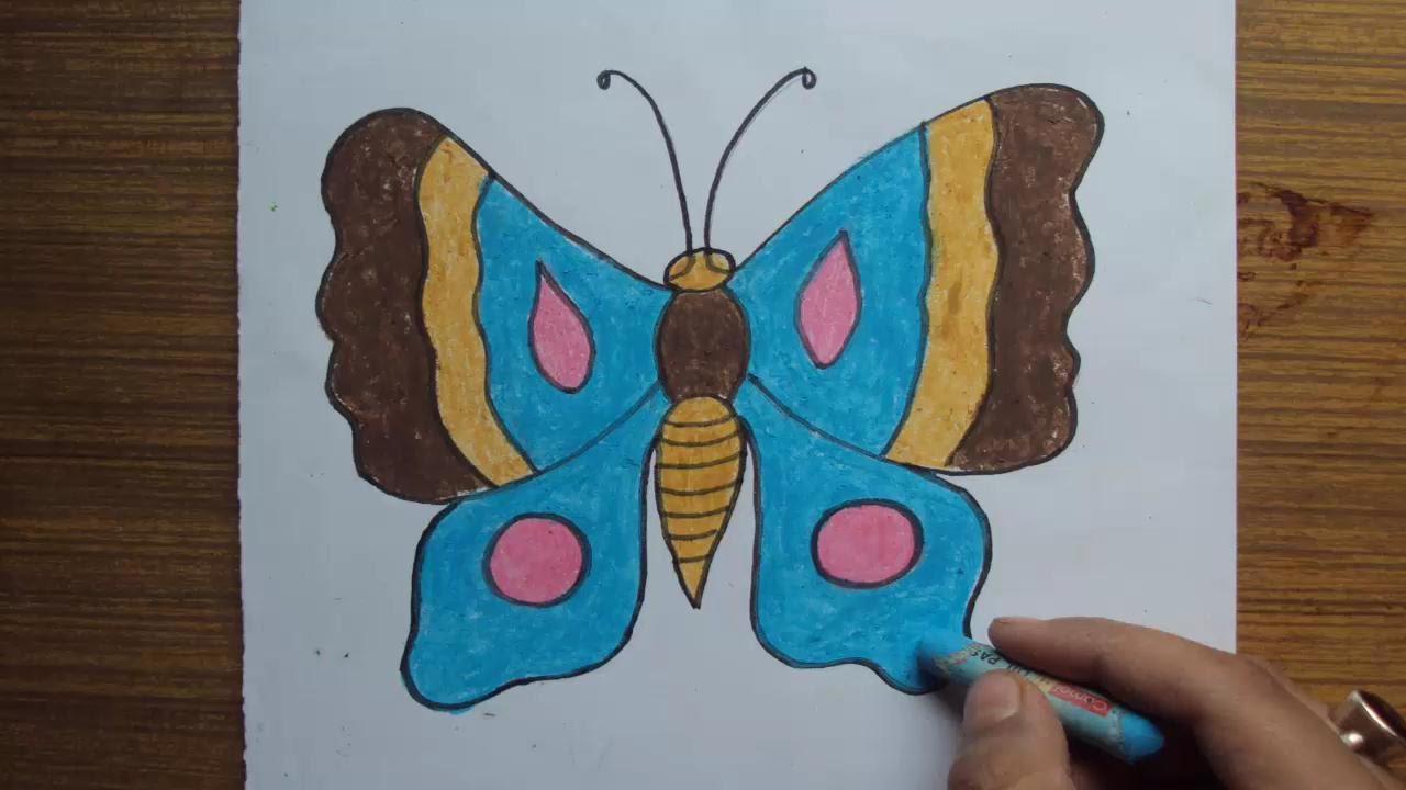 1280x720 How To Draw Butterfly Step By Step Easy With Pastel Color