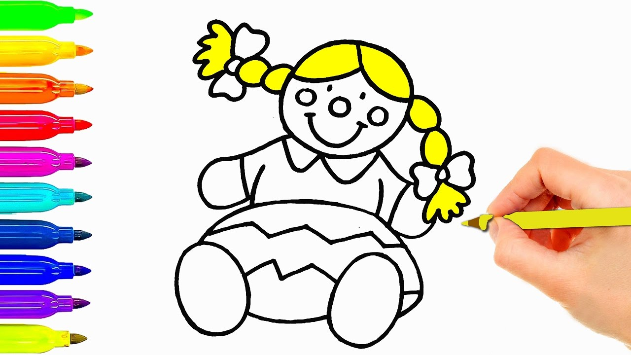 1280x720 Baby Drawing For Kids Baby Doll Drawing For Kids Coloring Pages