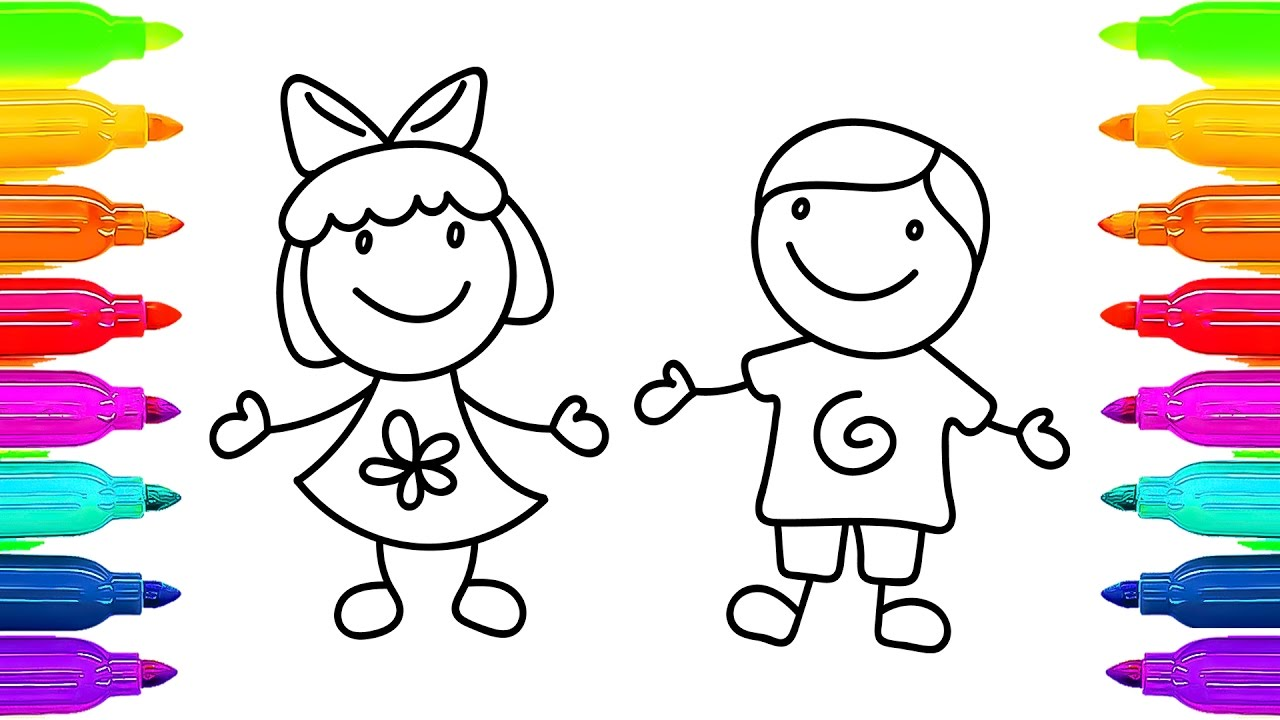 1280x720 How To Draw And Colouring Kids Learning Coloring Pages