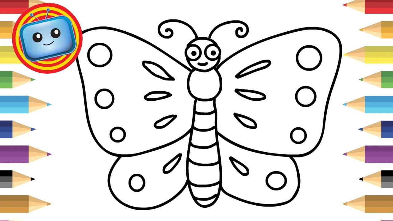 1280x720 How To Draw A Butterfly For Kids Simple Drawing Game Animation