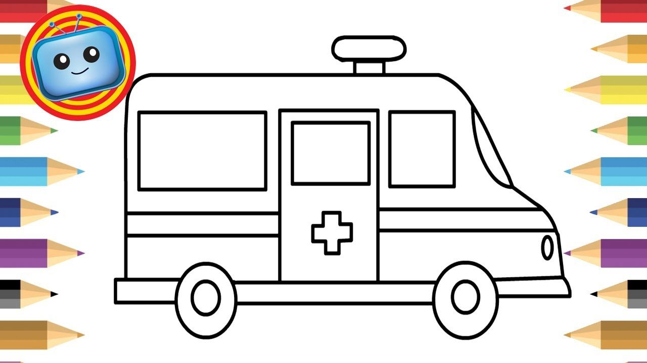 1280x720 How To Draw An Ambulance Colouring Book Simple Drawing Game
