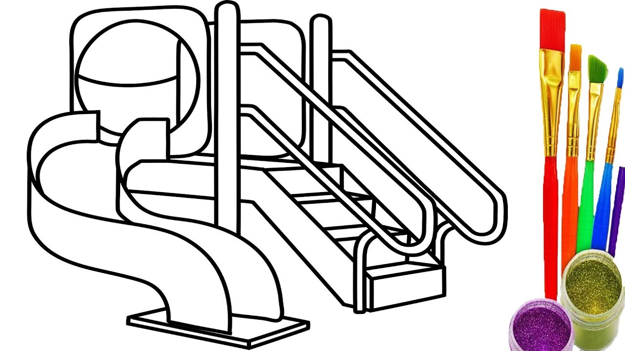 1280x720 How To Draw Playground For Kids Coloring Pages Drawing And Learn