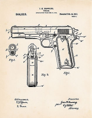 314x400 1911 Pistol Colt 45 Automatic