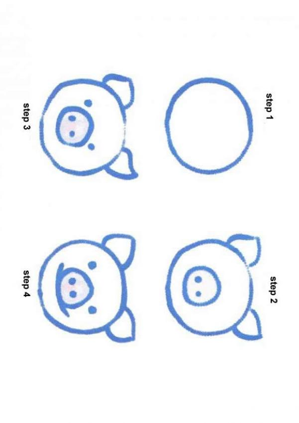 601x850 4 Step Sequence To Draw Simple Animals