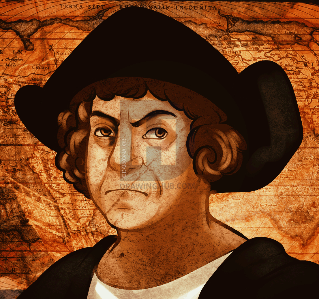 1106x1039 Christopher Columbus Drawing How To Draw Christopher Columbus