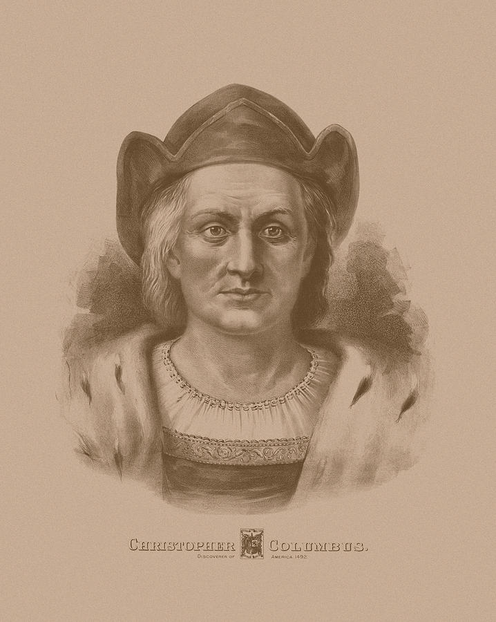 718x900 Christopher Columbus Drawing By War Is Hell Store